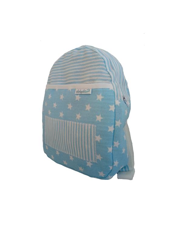 mochila infantil estrellitas azul alokoala