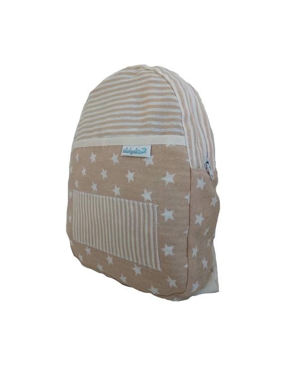 mochila infantil alokoala estrellitas marrón