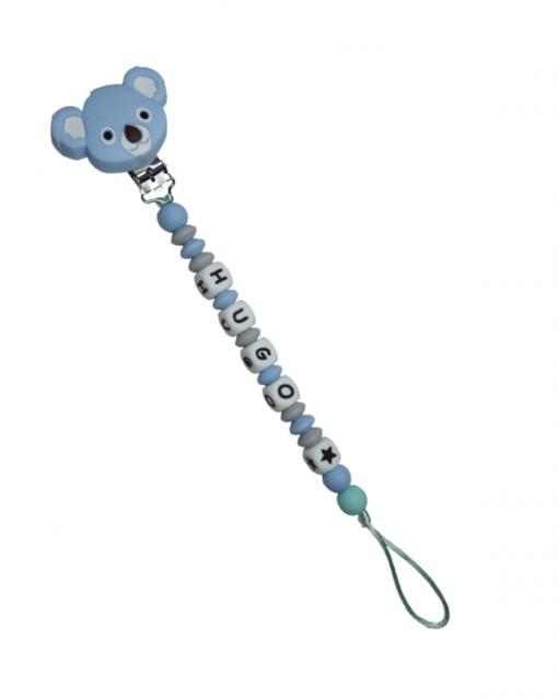 chupetero silicona alokoala koala azul