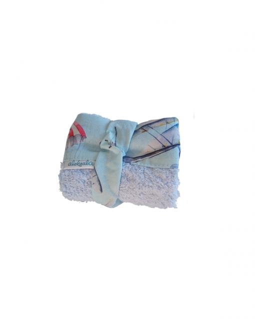 toallita auxiliar convertible en babero, paracaídas - alokoala