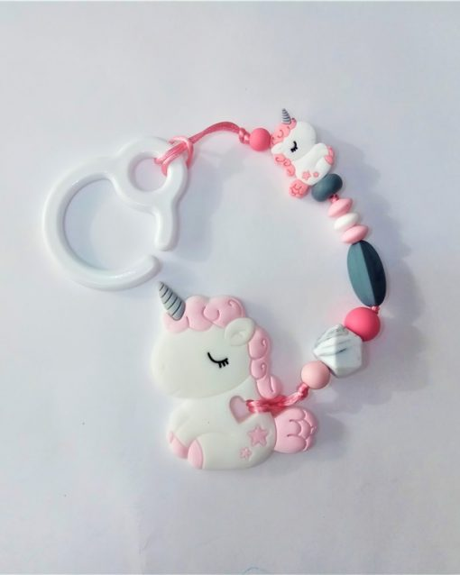 mordedor silicona Alokoala - dulce unicornio rosa