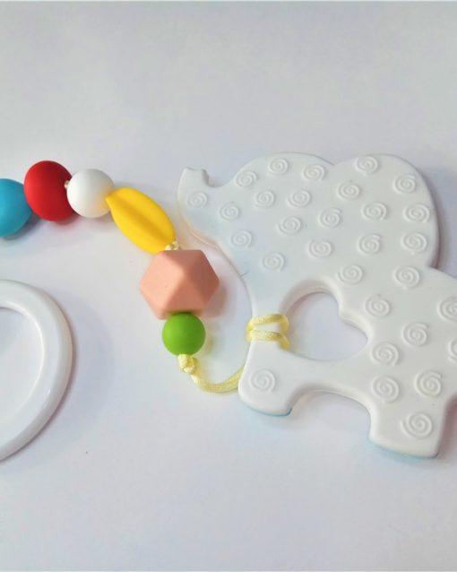 mordedor silicona Alokoala - elefante indio blanco - detrás