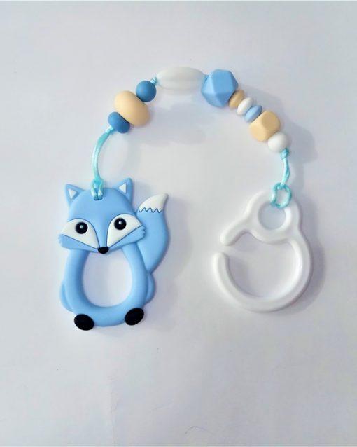 mordedor silicona Alokoala - zorro azul