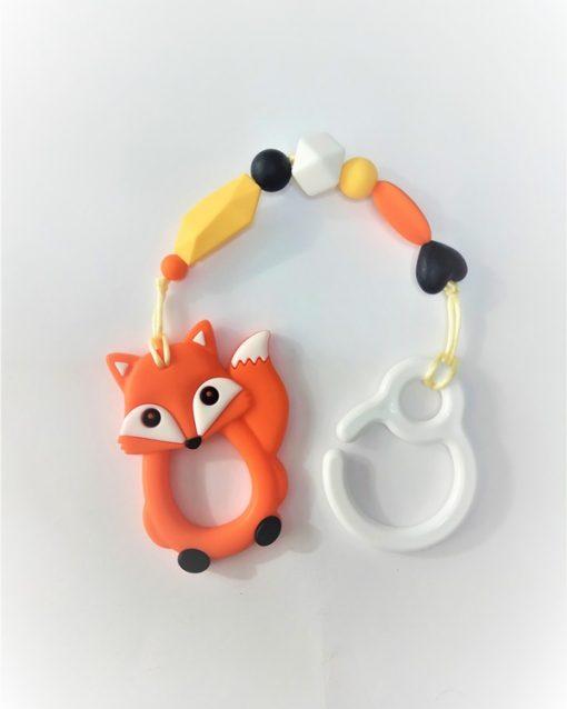 mordedor,silicona Alokoala - zorro naranja