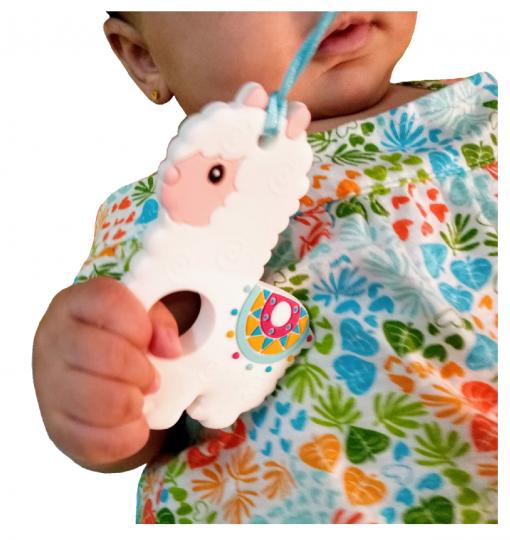 bebé alokoala con mordedor de silicona