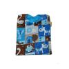 babero alokoala granja azul