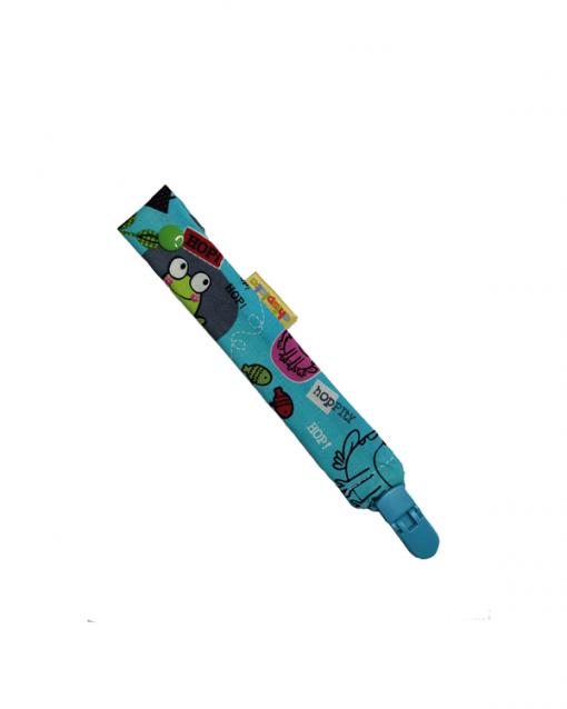 chupetero textil alokoala ranas pinza turquesa
