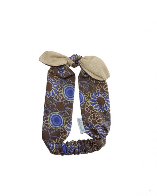 diadema ajustable alokoala flores marrón