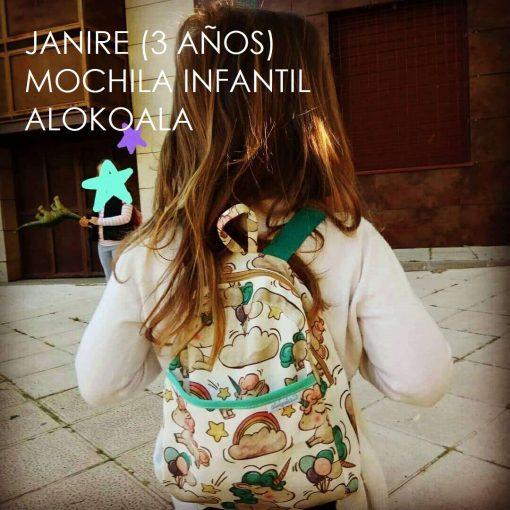 mochila infantil alokoala janire 3 años