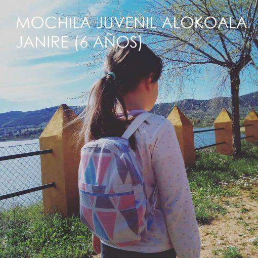 mochila juvenil Janire 6 años