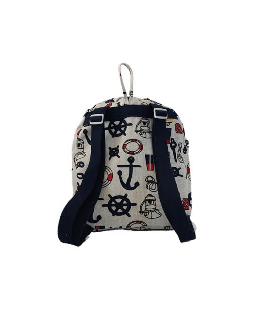 mochila juvenil alokoala marinero correas azul marino