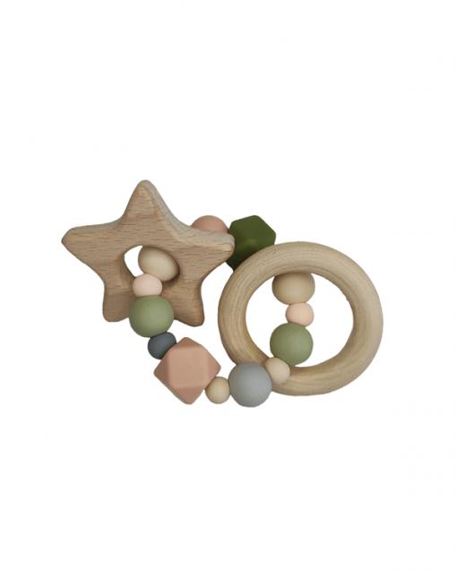 mordedor silicona y madera alokoala dubhe