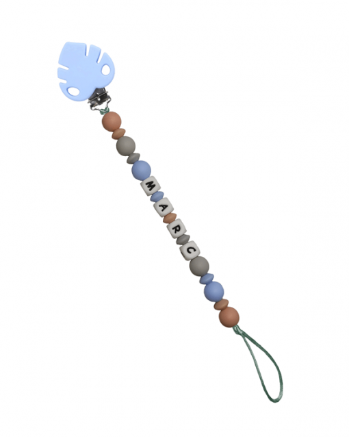 chupetero personalizado alokoala hoja azul