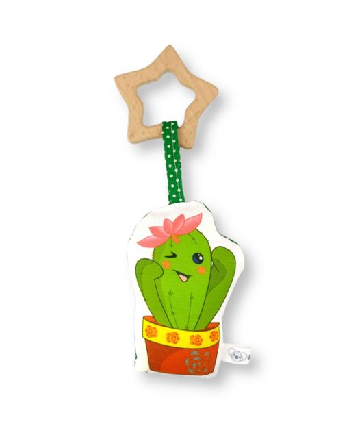 peluche sonajero mordedor alokoala cactus